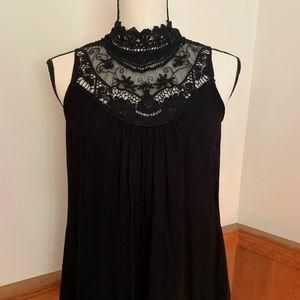 Tops - Lace neck blouse
